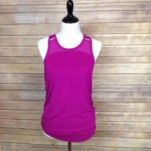 Fila split back fuschia tank with back ties
